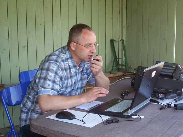 Peter, DM3VA in Aktion