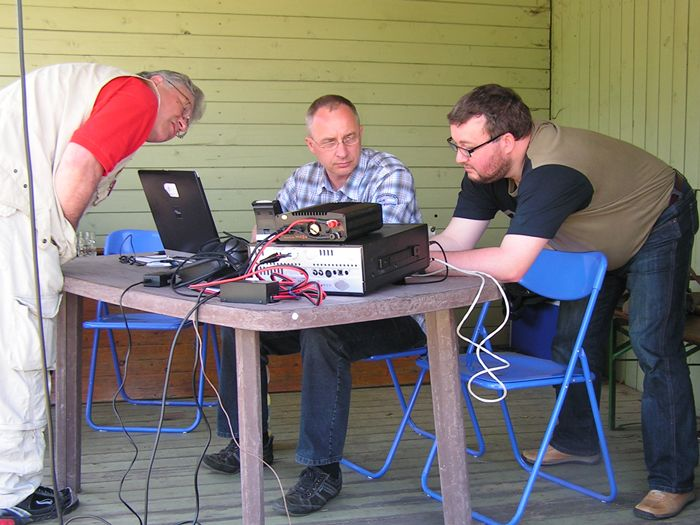 Bernhard, DH1BHE und Jens, DK3SAW-alles o.k.