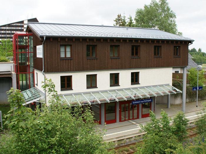 Der alte Bahnhof dient als Shack