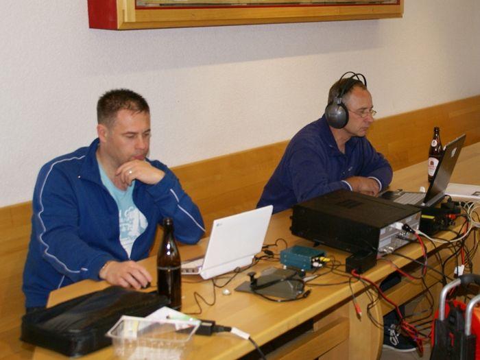 Mike, DF7MR und Peter, DM3VA an der KW