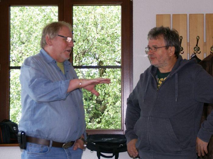 Karl, DF1KAG und Winfried, DL3HQDD