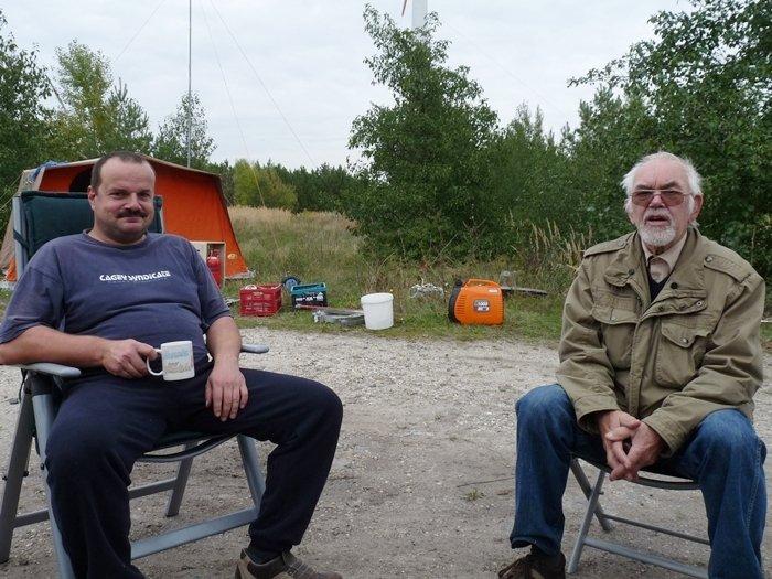 Alexander DO1ALS und Dietmar DG0HP.